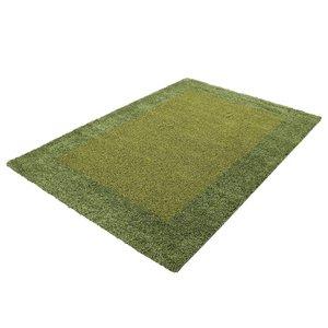 Groen hoogpolig vloerkleed Adriana Shaggy  1500/AY